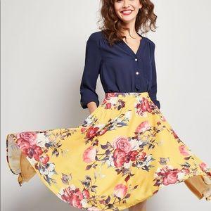 ModCloth Ikebana A Line Skirt